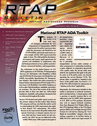Cover of the RTAP newsletter.