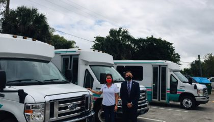 Palm Tran Connection Donated Retired Vehicle to SouthTech Schools